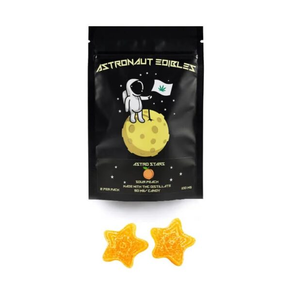 astronaut edibles products sourpeach